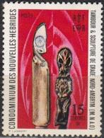Nouvelles Hebrides 1972 Michel 337 Neuf ** Cote (2005) 0.50 Euro Sculpture De Ambrym - Légende Française