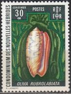 Nouvelles Hebrides 1972 Michel 340 Neuf ** Cote (2005) 1.20 Euro Coquillage - Légende Française