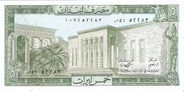 LIBAN   5 Livres   1986   P. 62d   UNC - Liban