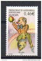 """ANDORRE FRANCAIS N° 569 - EUROPA """"CIRQUE"""" CLOWN - Europa-CEPT"""