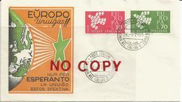 Esperanto, Italia San Remo 1961, Busta Primo Giorno Illustrata, Serie Europa Annullata 32° Congresso Nazionale . - Esperanto