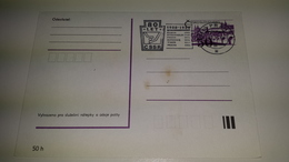 HOCKEY Cricket Sport Ceskoslovenso 1988 Postal Stationery Used Ball Game Games 1908 80 Let Cssr - Hockey (su Ghiaccio)