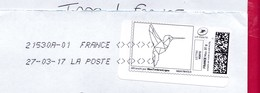 France - 2016- MONTIMBRENLIGNE -  Enveloppe DL - OISEAU ORIGAMI - Cartas