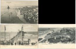 Scheveningen Wandelpier, Vogelvlucht Etc. 3 Postkaarten Mit Leben  C. 1904-08 - Scheveningen