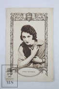 Old Trading Card/ Chromo Topic/ Theme Cinema/ Movie - Spanish  Advertising  - Actor: Vera Daniels - Chocolate