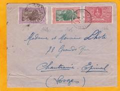 1931 - Lettre De  Madagascar Vers Epinal - Cachet Octogonal La Réunion à Marseille, Ligne N° 4 - Paquebot - Cad Arrivée - Storia Postale