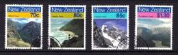 New Zealand 1988 Scenic Walking Trails Set Of 4 Used - New Zealand
