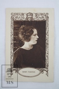 Old Trading Card/ Chromo Topic/ Theme Cinema/ Movie - Spanish  Advertising  - Actress: Mary Fanton - Chocolate