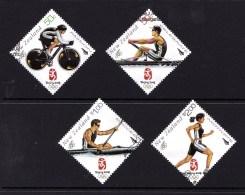 New Zealand 2008 Beijing Olympic Games Set Of 4 Used - New Zealand