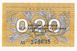 LITUANIE   0,20 Talonas   1991   P. 30   UNC - Lithuania