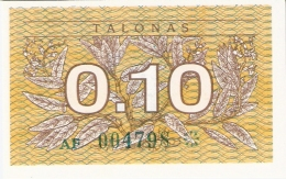 LITUANIE   0,10 Talonas   1991   P. 29a   UNC - Lithuania