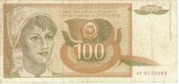 YUGOSLAVIA 100 DINARA 1990 P-105 VF  [ YU105circ ] - Yugoslavia