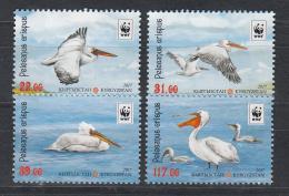 Kirgistan 2017 MNH** Mi. Nr. 883-886 A   WWF Sea Birds Set Pelican Pelikan  M