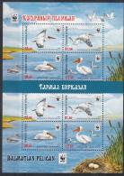 Kirgistan 2017 MNH** Mi. Nr. 883-886 A Zd KB  WWF Sea Birds Set Pelican Pelikan  M