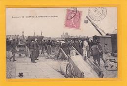 GRANVILLE -50- PECHE - COMMERCES - MARCHES - Le Marché Aux Huitres - Peu Courante - Animation - Granville