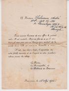 60 BEAUVAIS /1942 Lettre Accompagnant L'envoi D'un Colis Par La Mairie à Un Prisonnier De Guerre En Allemagne / Stalag - Historical Documents