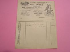 Facture ATELIERS DE CONSTRUCTIONS MECANIQUES ABEL ANDRE à Mariembourg Machines à Vapeur Bois Matériel De Brasserie - 1900 – 1949