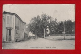 1 Cpa Carte Postale Ancienne - 47 Feugarolles Route De Thouars - Francia