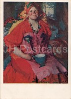 Painting By A. Arkhipov - Girl With A Jug , 1927 - Russian Art - 1940 - Russia USSR - Unused - Schilderijen