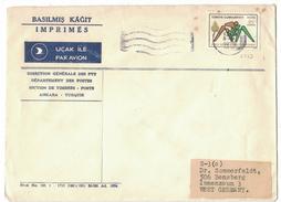 XA102     Turkey 1975, Cover Ankara To West Germany - 1921-... Repubblica