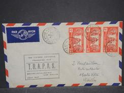 NOUVELLE CALÉDONIE - Enveloppe 1 Er Vol Nouvelle Calédonie / Wallis & Futuna Par TRAPAS En 1947 - L 6851 - Nueva Caledonia