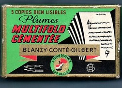 Boite Avec 100 Plumes - N° 2348 Multifold Cémentée Rare  (neuve Fermeture D'origine) - Plumas