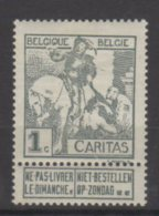 Belgique N° 84 Luxe ** - 1910-1911 Caritas