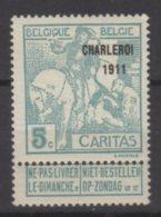 Belgique N° 104  Luxe ** - 1910-1911 Caritas