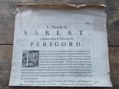 VRAIE CARTE Ancienne JEAN TARDE De 1625 DIOCESE SARLAT Et Environs PERIGORD + Texte Rédactionnel - Cartes Géographiques