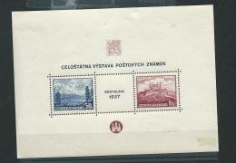 Tchecoslovaquie  - Bloc Feuillet Yvert N° 3 * ( Trace De Charnières )  Cw24101 - Blocks & Sheetlets
