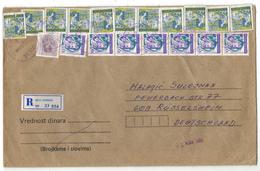 XA105    Yugoslavia Sjenica In 1989, Registered Letter To Rousselsheim, Germany - Brieven En Documenten