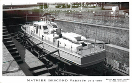 MATHIEU BESCOND VEDETTE (en 1967) - Toulon. - Guerre