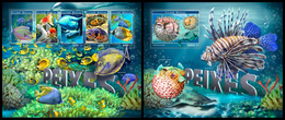 GUINEA BISSAU 2017 - Fishes. M/S + S/S. Official Issue - Marine Life