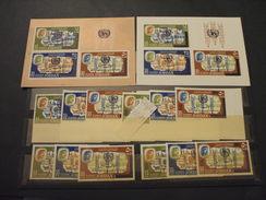 GIORDANIA - 1966 FAME/ANTITUBERCOLARE  6 VALORI + 6 VALORI ND(50 F. A Filo In Alto)  + 2 BF - NUOVI(++) - Giordania