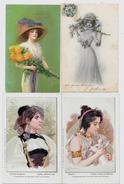 Lot 183 De 10 CPA Femme Woman Girl Art Nouveau Déstockage Pour Revendeurs Ou Collectionneurs - Cartes Postales