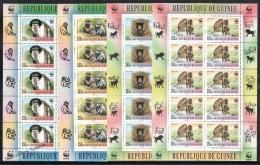 Guinée Republique - Guinea 2000 Sheetlet - WWF Animals, Monkeys - MNH - Guinée (1958-...)