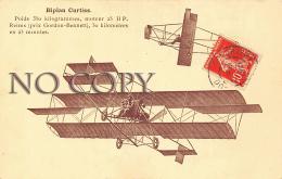 Biplan Curtiss - Poids 350 Kilogrammes Moteur 25 HP - Aviation - Aviation