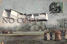 L'Aéroplane Santos Dumont - CPA Colorisée Aviation Aviateur - Aviation