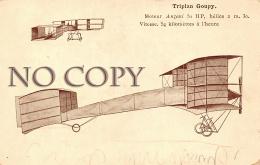 Triplan Goupy - Moteur Anzani 50 HP - Aviation - Aviation