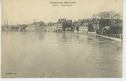CREIL - Inondation De L'Oise - Mars 1910 - Quai D'Aval - Creil