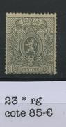 23 * 1c Gris  Regommé  Coté 85 € - 1866-1867 Coat Of Arms