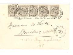 TP 53(5) S/CP Spa Promenade D'Orléans C.Ambulant Liège - Erquelinnes 1 3/5/1905 V.Bouillon C.d'arrivée PR4388 - Ambulants
