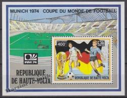 Alto Volta - Haute Volta 1974 Yvert BF 5Q - Munich Football World Cup - Air Mail - MNH - Opper-Volta (1958-1984)
