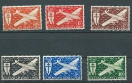Indes Francaise - Aérien - N°1 à 6 * / ** Légère Traces Sur Certains -  Aoa 24201 - India (1892-1954)
