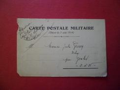 Carte Postale Militaire (Décret Du 3 Août 1914) Postes Aux Armées Le 24/01/1916 Pour Genlis Le 28/01/1916  B/TB - Poststempel (Briefe)