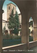 PENNE - CAMPANILE E CHIOSTRO DI SAN DOMENICO - F. GRANDE PRIMISSIME A COLORI - VIAGGIATA 1956 - (rif. D74) - Pescara