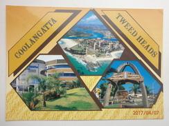 Postcard Coolangatta Tweed Heads Gold Coast Queensland New South Wales Australia PU 1990 Nice Banking Stamp My Ref B2918 - Gold Coast