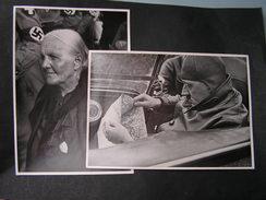 Adolf  H Mit Oma  , 2 Foto   Gr. Sammelbild  11 +  25 , Rückseite Text - Deutschland