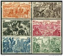 Reunion (1946) PA N 36 à 41 * (charniere) - Réunion (1852-1975)
