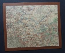 Carte : Le Bourget, Le Blanc-Mesnil, Gonesse, Villepinte, Aulnay-sous-Bois, Bondy, Bobigny, Villemonble. - Cartes Géographiques
